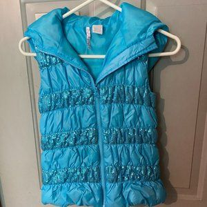 Hearts n Crush Girls Sequin Puffer Vest
